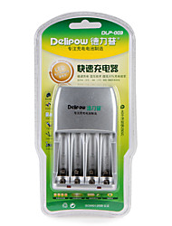 Delipow Battery Fast Charger Suitable for AA/AAA Nickel-Metal Hydride Nickel-Chromium Rechargeable Battery