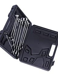 Bouclier en acier 9 pièces métriques polissage fin à longue clé (boîte en plastique) / 1 set