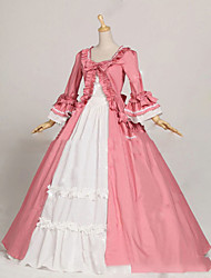 One-Piece/Dress Gothic Lolita Lolita Cosplay Lolita Dress Pink Vintage Cap Long Sleeves Floor-length Dress For Other