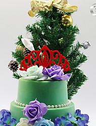 Decorações de Bolo Monograma Acrílico Presentes de Natal 1