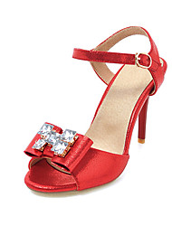 Damen High Heels Pumps PU Sommer Hochzeit Kleid Pumps Strass Stöckelabsatz Gold Silber Purpur Rot 7,5 - 9,5 cm
