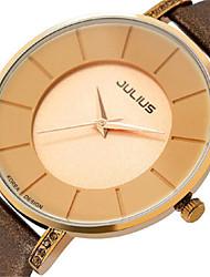 Муж. Модные часы Японский Кварцевый Защита от влаги Кожа Группа Черный Белый Коричневый Золотистый Розовый