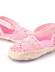 Newborn Baby Girls Kids' Sandals First Walkers Summer Lace Party & Evening Dress Casual Bootie Hollow-out Flower Flat HeelBlushing Pink