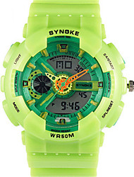 Masculino Relógio de Moda Digital Silicone Banda Preta Azul Verde Ouro Rose