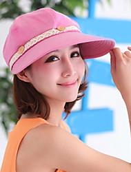 Для женщин Очаровательный На каждый день Широкополая шляпа Бейсболка Шляпа от солнца,Лето осень Хлопок Кружева Однотонный