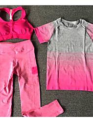 Damen T-Shirt für Wanderer Fitness, Laufen & Yoga Rasche Trocknung Kleidungs-Sets für Rennen Ganzjährig S M L