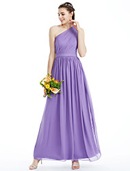 2017 LAN TING BRIDE Ankle-length One Shoulder Bridesmaid Dress - Elegant Sleeveless Chiffon
