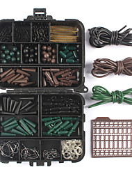 Anmuka 1Set Assorted Carp Fishing Accessories Tackle Boxes For Hair Rig Combo Box with HooksRubber Tubes Swivels BeadsEtc