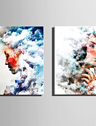 E-HOME Stretched Canvas Art  Women In The Clouds Decoration Painting One Pcs