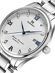 Men's Fashion Watch Quartz Automatic self-winding Calendar Water Resistant / Water Proof Alloy Band Silver