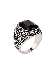 Jewelry Rings  Black Red stone Luxury Ring For Women Square Gemstone Ring