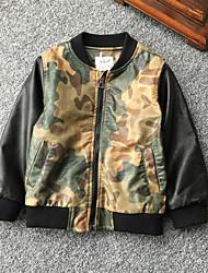 Children's Camouflage Jacket & Coat,Others Long Sleeve