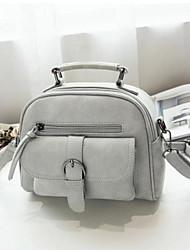Women Shoulder Bag PU All Seasons Baguette Zipper Gray Black