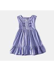 Girl's Solid Color Dress