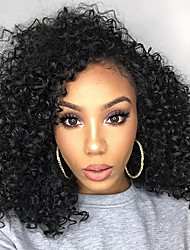 New Style 130% Density Kinky Curly Natural Black Color Hair Wig High Quality Human Hair Full Lace Wigs With Baby Hair For Woman
