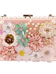 Women Shoulder Bag PC All Seasons Casual Rectangle Kiss Lock Blushing Pink