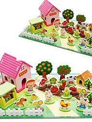 Brinquedos de Faz de Conta Kit Faça Você Mesmo Bonecos & Pelúcias Blocos de Construir Madeira Natural