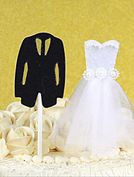2Pcs/Set The Bride And Groom Cake Topper Custom Wedding Cake Decoration Birthday Dessert Wedding Decoration