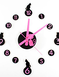 Modern/Contemporary Animals Wall Clock,Round Novelty Acrylic Indoor Clock