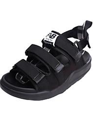 Women's Sandals Comfort Light Soles PU Summer Fall Casual Black 1in-1 3/4in