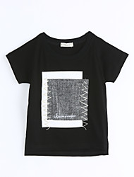 T-Shirt Einfarbig Baumwolle Sommer Kurzarm