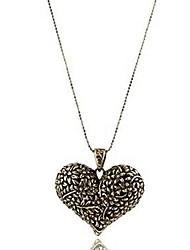 Жен. Ожерелья с подвесками Ожерелья-цепочки В форме сердца СплавБазовый дизайн Уникальный дизайн С логотипом В виде подвески Любовь