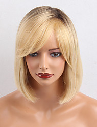 Естественные простые наклонные челки ombre цвет bob короткие человеческие волосы парики