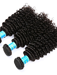 Vinsteen Kinky Curly Hair Weave 3 Bundles 300g Unprocessed Human Hair Extensions Natural Human Hair Weave Peruvian Weft Hair Extensions