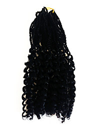 Black senagalese twist braids with curly end kanekalon twist hair extension synthetic braiding hair