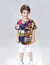 Rainbow Blouse,Polyester Summer