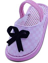 Girls' Flats First Walkers Cotton Fabric Spring Fall Casual Walking First Walkers Magic Tape Low Heel Blushing Pink Black Flat