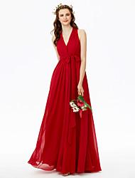 2017 LAN TING BRIDE Floor-length V-neck Bridesmaid Dress - Beautiful Back Sleeveless Chiffon