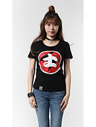 Dámské Postavy Slovo/Citát Jdeme ven Běžné/Denní Oblečení na atletiku Jednoduché Punk & Gothic Čínské vzory Tričko-Léto Bavlna Spandex