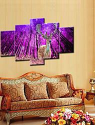 Художественная печать Животное Пастораль,5 панелей Горизонтальная Печать Искусство Декор стены For Украшение дома