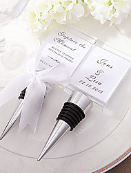 Photo Holder and Bottle Stopper 2in1 functions - photo size 4.5 x 4 cm - Beter Gifts® Wedding Style