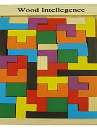 Bloques de Construcción Para regalo Bloques de Construcción Rectángulo Madera 3-6 años de edad Juguetes