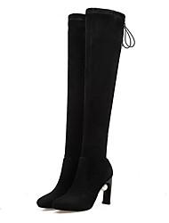 Women's Boots Comfort Suede Spring Casual Comfort Gray Black Flat
