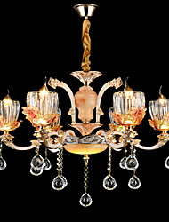 Pendant Light Zinc Alloy Feature for Crystal Mini Style Metal Bedroom Dining Room Indoor 6 Bulbs