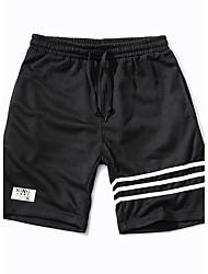 Herren Einfach Mittlere Hüfthöhe Mikro-elastisch Kurze Hosen Lässig Hose Solide Schwarz & Weiß