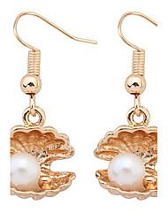Korean Style Fashion  Luxury  Personalized Delicate  Shell Pearl Earrings Lady Party Drop Earrings Movie Jewelry