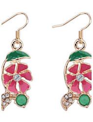 Euramerican Fashion Elegant  Exquisite Flower Rhinestone Earrings Lady Party  Drop Earrings Movie Jewelry