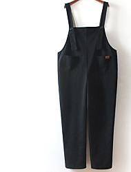 Women's Medium Waist Micro-elastic Loose Pants,Cute Relaxed Solid