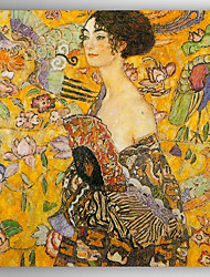 Hand-Painted   Oil Painting  Gustav Klimt Woman with Fan