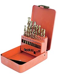 The Steel Shield Is Made Of 19 Pieces Of Titanium High Speed Steel Straight Shank Drill Sets / 1 Sets