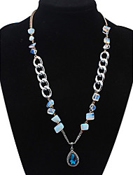 Europe and the United States contracted transparent stone drops necklace