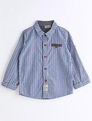 Unisex Stripe Striped Shirt,Cotton Spring Fall Long Sleeve