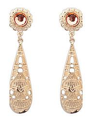 Euramerican Fashion Luxury Elegant Gold Big Drop Earrings Lady Party Drop Earrings Movie Jewelry