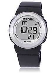 Жен. Детские Спортивные часы Смарт-часы Цифровой Защита от влаги Фосфоресцирующий Pезина Группа Черный Синий Красный