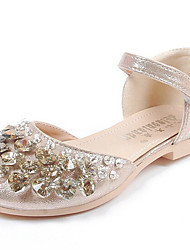 Girls' Sandals Comfort Glitter Spring Fall Casual Flat Heel Silver Gold 1in-1 3/4in