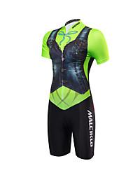 Tri Suit Women's Short Sleeves Bike Triathlon/Tri Suit Anatomic Design Moisture Permeability Front Zipper High Breathability (>15,001g)